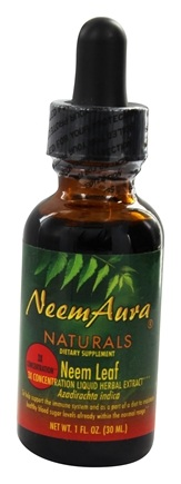 NeemAura Naturals - Neem Leaf Liquid Herbal Extract Triple Potency - 1 oz.