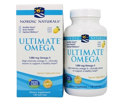 Nordic Naturals - Ultimate Omega Purified Fish Oil Lemon 1000 mg. - 120 Softgels