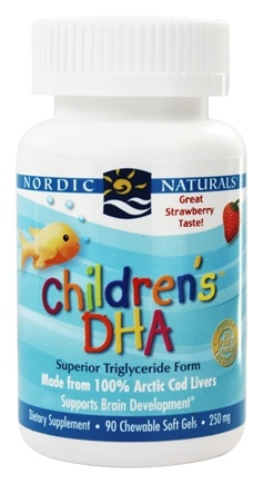 Nordic Naturals - Children's DHA Strawberry 250 mg. - 90 Softgels