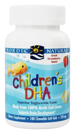 Nordic Naturals - Children's DHA Strawberry 250 mg. - 180 Chewable Softgels