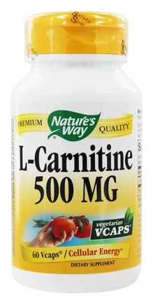 Nature's Way - L-Carnitine 500 mg. - 60 Vegetarian Capsules
