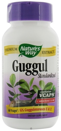 DROPPED: Nature's Way - Standardized Guggul - 60 Vegetarian Capsules
