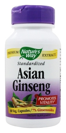 Nature's Way - Standardized Korean Ginseng - 60 Capsules