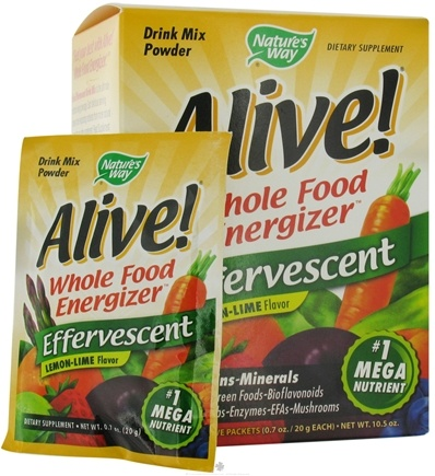 DROPPED: Nature's Way - Alive Effervescent Whole Food Energizer Drink Powder Lemon-Lime - 15 Packet(s)