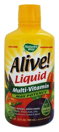 Nature's Way - Alive Liquid Multi Vitamins & Minerals Natural Citrus - 30 oz.
