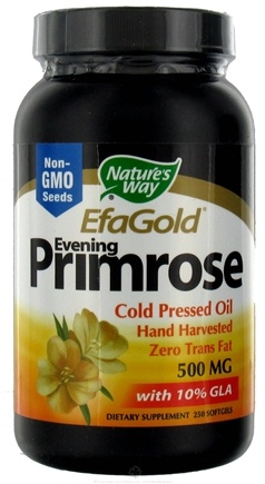 DROPPED: Nature's Way - Evening Primrose Oil CLEARANCE PRICED 500 mg. - 250 Softgels