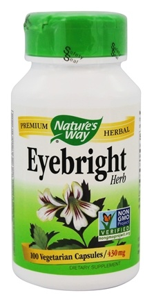 Nature's Way - Eyebright Herb 430 mg. - 100 Vegetarian Capsules