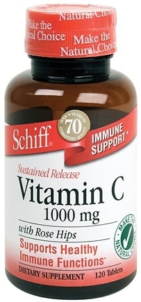 DROPPED: Schiff - Sustained Release Vitamin C 1000 with Rose Hips - 120 Tablets