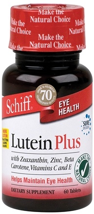 DROPPED: Schiff - Lutein Plus - 60 Tablets