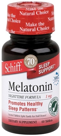 DROPPED: Schiff - Melatonin 1 mg. - 60 Tablets CLEARANCE PRICED