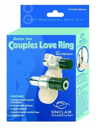DROPPED: Sinclair Institute - Better Sex Couples Love Ring with Dual Vibration