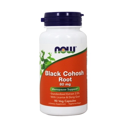NOW Foods - Black Cohosh Standardized with Licorice & Dong Quai 80 mg. - 90 Capsules