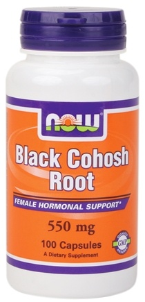 DROPPED: NOW Foods - Black Cohosh Root 550 mg. - 100 Capsules