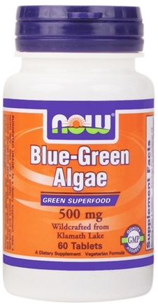 DROPPED: NOW Foods - Blue-Green Algae 500 mg. - 60 Tablets