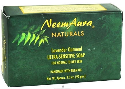 DROPPED: NeemAura Naturals - Bar Soap Ultra-Sensitive For Normal To Dry Skin Lavender Oatmeal - 3.3 oz. CLEARANCE PRICED