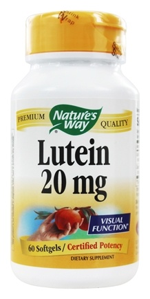 Nature's Way - Lutein 20 mg. - 60 Softgels