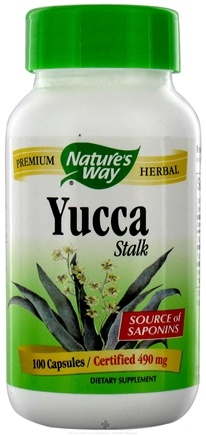 DROPPED: Nature's Way - Yucca Stalk 490 mg. - 100 Capsules CLEARANCE PRICED