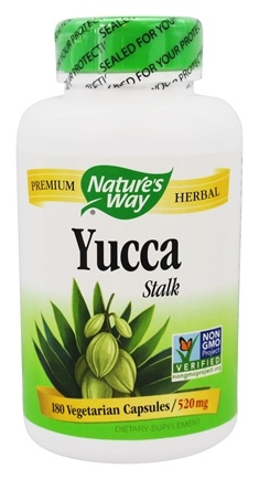 Nature's Way - Yucca Stalk 490 mg. - 180 Capsules