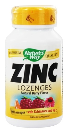 Nature's Way - Zinc Lozenges Natural Berry Flavor - 60 Lozenges
