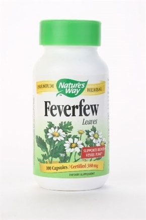 DROPPED: Nature's Way - Feverfew Leaves - 100 Capsules