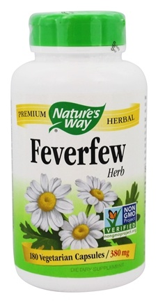 Nature's Way - Feverfew Leaves 380 mg. - 180 Capsules