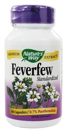 Nature's Way - Feverfew Standardized Extract - 60 Capsules