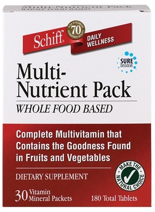 DROPPED: Schiff - Whole Food Based Multi-Nutrient Pack - 30 Packet(s)