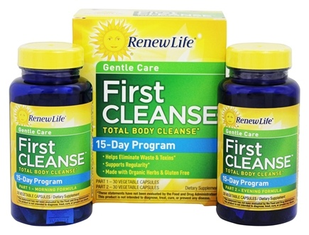 ReNew Life - First Cleanse Total Body Internal Cleanse Kit 2-Week Program - 60 Capsules