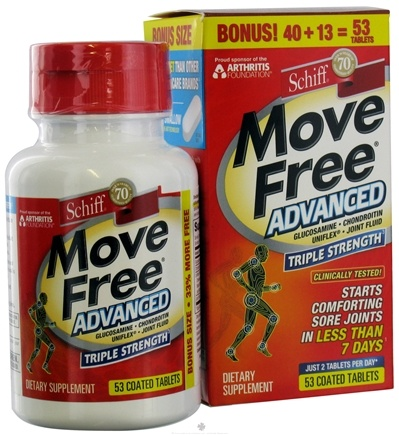 DROPPED: Schiff - Move Free Advanced - 53 Tablets CLEARANCE PRICED