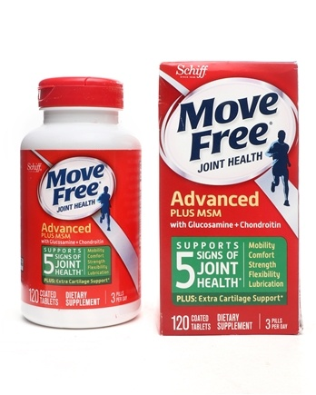 Schiff - Move Free Glucosamine Chondroitin Plus MSM 1500 mg. - 120 Tablets