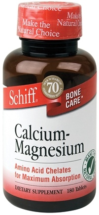 DROPPED: Schiff - Calcium-Magnesium - 180 Tablets