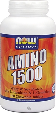 DROPPED: NOW Foods - Amino 1500 Whey & Soy Protein - 150 Chewable Tablets