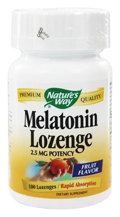 Nature's Way - Melatonin Fruit Flavor 2.5 mg. - 100 Lozenges
