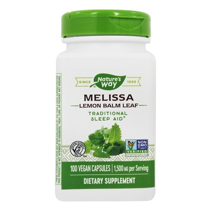 Nature's Way - Melissa Lemon Balm Leaf 500 mg. - 100 Vegetarian Capsules