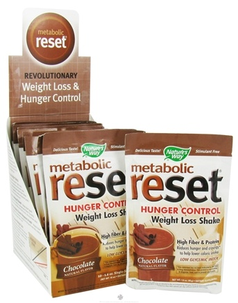DROPPED: Nature's Way - Metabolic Reset Hunger Control Weight Loss Shake Chocolate - 1 Packet CLEARANCE PRICED