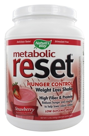 Nature's Way - Metabolic Reset Hunger Control Weight Loss Shake Strawberry - 630 Grams