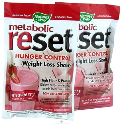 DROPPED: Nature's Way - Metabolic Reset Shake Strawberry - 1 Packet