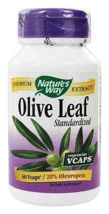 Nature's Way - Standardized Olive Leaf 20 % - 60 Vegetarian Capsules