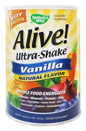 Nature's Way - Alive Soy Protein Ultra-Shake Vanilla - 2.2 lbs.
