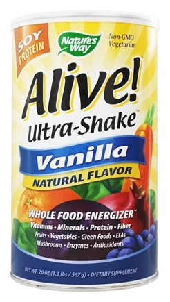 Nature's Way - Alive Soy Protein Ultra-Shake Whole Food Energizer Vanilla - 1.3 lbs.