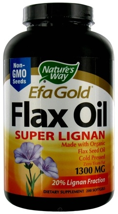 DROPPED: Nature's Way - Flax Oil Super Lignan (High Potency & High Lignan) CLEARANCE PRICED 1300 mg. - 200 Softgels