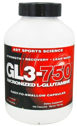 DROPPED: AST Sports Science - GL3 750 L-Glutamine Caps - 500 Capsules CLEARANCE PRICED