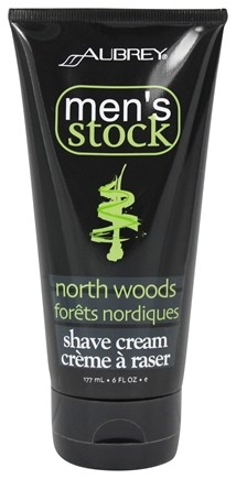 Aubrey Organics - Men's Stock North Woods Shave Cream - 6 oz.