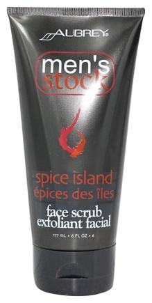 Aubrey Organics - Men's Stock Spice Island Face Scrub Exfoliant Facial - 6 oz.