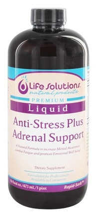 Life Solutions - Liquid Anti-Stress Plus Adrenal Support - 16 oz.