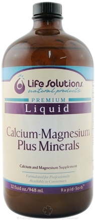 DROPPED: Life Solutions - Liquid Calcium Magnesium Plus Minerals - 32 oz. CLEARANCE PRICED