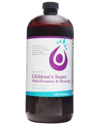 Life Solutions - Liquid Children's Super MultiVitamins and Minerals - 32 oz.
