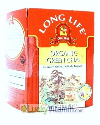 DROPPED: Long Life Teas - Organic Green Chai Tea - 20 Tea Bags