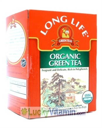 DROPPED: Long Life Teas - Organic Green Tea with Ginkgo - 20 Tea Bags