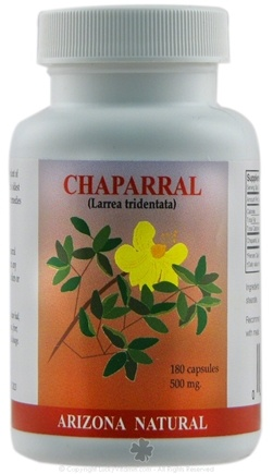 DROPPED: Arizona Natural - Chaparral 500 mg. - 90 Capsules CLEARANCE PRICED